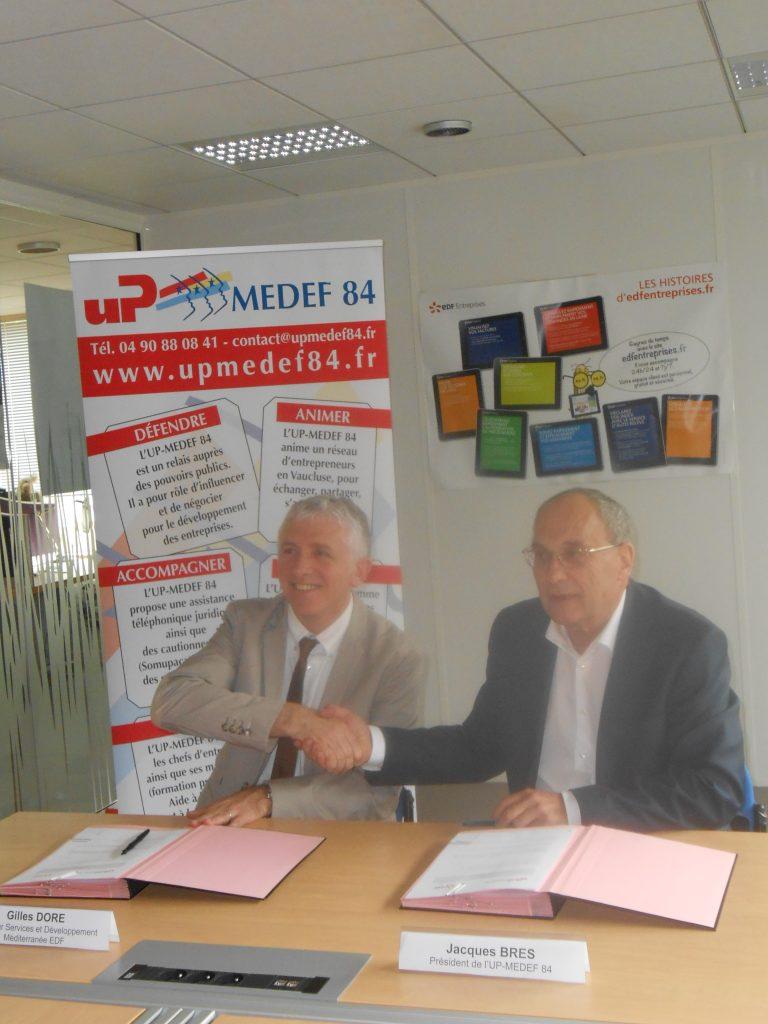 partenariat entre l u0026 39 up-medef 84 et edf